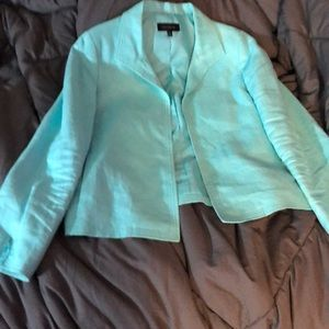 Blue Talbots jacket.